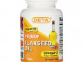 Deva, Premium Vegan Flaxseed Oil, 90 Vegan Caps
