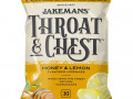 Jakemans, Throat & Chest, вкус «Мед и лимон», 30 пастилок