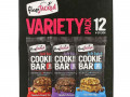 FlapJacked, Soft Baked Cookie Bar Variety Pack, Chocolate Peanut Butter, Chocolate Brownie, Chocolate Chip, 12 Bars, 1.90 oz (54 g) Each
