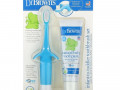 Dr. Brown's, Infant to Toddler Toothbrush Set, 0-3 Years, Blue, Real Pear & Apple Flavor, 2 Piece Set