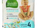 Seventh Generation, Free & Clear Diapers, Size 4, 22-32 lbs, 27 Diapers