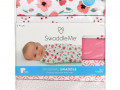 Summer Infant, SwaddleMe, Original Swaddle, Small Medium, 0-3 Months, Floral, 5 Pack